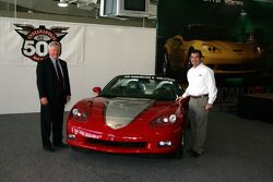 Rick Scheidt, Chevrolet executive director for product and brand development, and Joie Chitwood, IMS