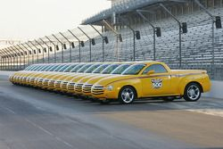 A fleet of Chevy SSR's at Indianapolis