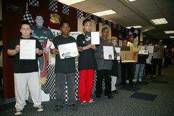 Children at the 500 Festival and Indy 500 Education Program presentation at Crooked Creek Elementary in Indianapolis