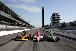Front row for the 89th running of the Indianapolis 500: pole winner Tony Kanaan with Sam Hornish Jr.