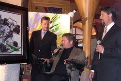 6th Annual Sam Schmidt Paralysis Foundation fundrasing gala: Dave Calabro, Sam Schmidt and Michael A