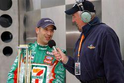 Interviews for pole winner Tony Kanaan