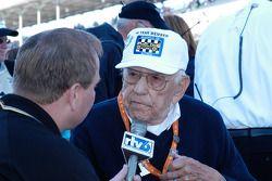 Tom Carnegie is interviewed