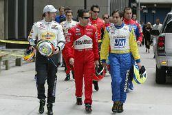 Tomas Scheckter, Helio Castroneves and Vitor Meira