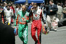 Tony Kanaan and Dan Wheldon