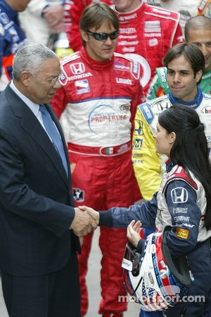 Colin Powell and Danica Patrick