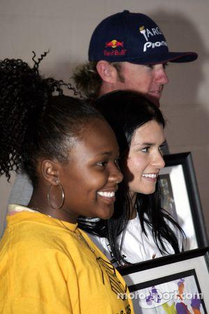 Autograph session: Danica Patrick and Buddy Rice