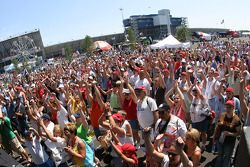 Des fans au Michigan International Speedway