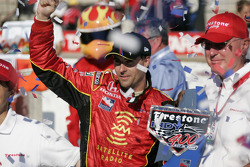 Victory lane: race winner Bryan Herta celebrates