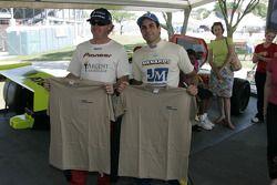 Buddy Rice et Vitor Meira