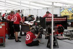 Ganassi Racing paddock area