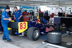 Prepping Patrick Carpentier's car