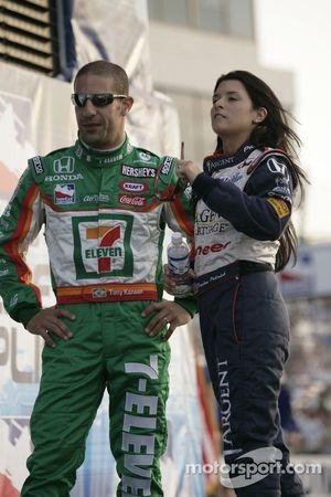 Danica Patrick and Tony Kanaan