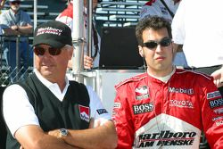 Rick Mears and Sam Hornish Jr.
