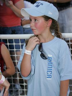 Autograph session: a young fan