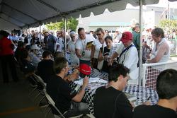 Autograph session: fans at autograph session