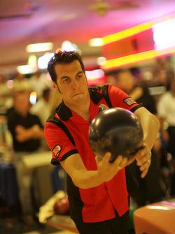 Sam Hornish Jr. plays bowling