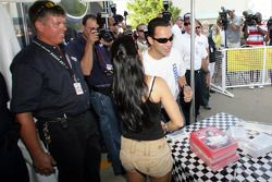 Autograph session: Danica Patrick and Helio Castroneves