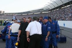 Team Red Bull's pre race prayer