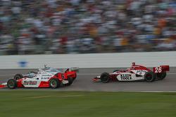 Tomas Scheckter, Sam Hornish Jr. and Dan Wheldon