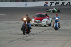 Orange County Choppers lead the parade laps