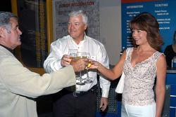 A pre-wedding toast from Al Unser, Sr, to friend Wyatt Swaim and bride-to-be Joyce