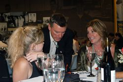 Johnny Rutherford welcomes Cody and Shelley Unser