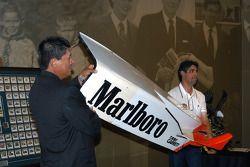 Damaged Al Unser, Jr. Penske sidepod from 1999 Chicago CART race up for auction