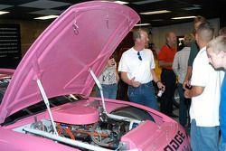 Al Unser, Jr.'s IROC Dodge Avenger engine on display