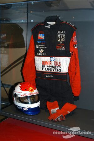 Johnny Unser exhibit in Indy 500 room