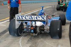 Dario Franchitti off to the track