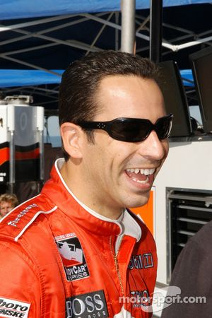Helio Castroneves liked his car
