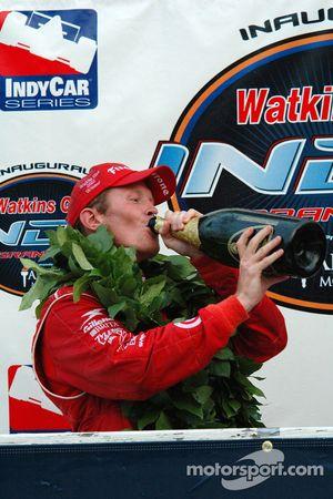 Scott Dixon likes the taste of victory