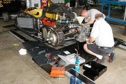 Crew works on Bryan Herta car