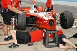 Adjustments to the bottom of the Ryan Briscoe car