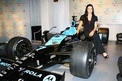 Danica Patrick et la voiture du Andretti Green Motorola