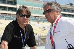 Adrián Fernández y Mario Andretti