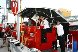 Ganassi Racing pit area