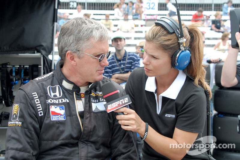 Eddie Cheever et Jamie Little