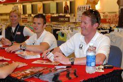 Dan Wheldon and Scott Dixon at Target autograph signing