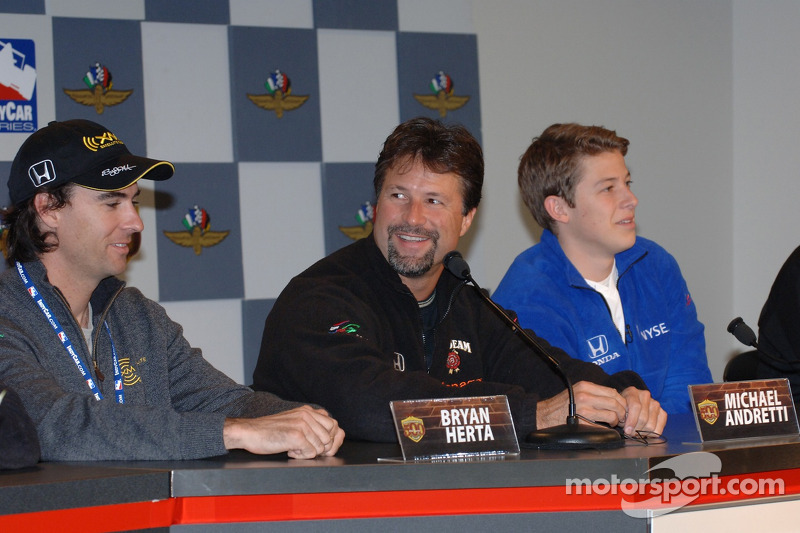 Bryan Herta, Michael Andretti et Marco Andretti