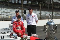 Roger Penske, Sam Hornish Jr. and Tim Cedric