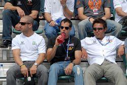 Tony Kanaan, Vitor Meira et Kosuke Matsuura