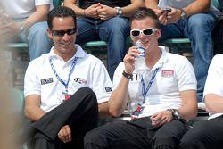 Helio Castroneves, Dan Wheldon, Marco Andretti, Danica Patrick et Tomas Scheckter
