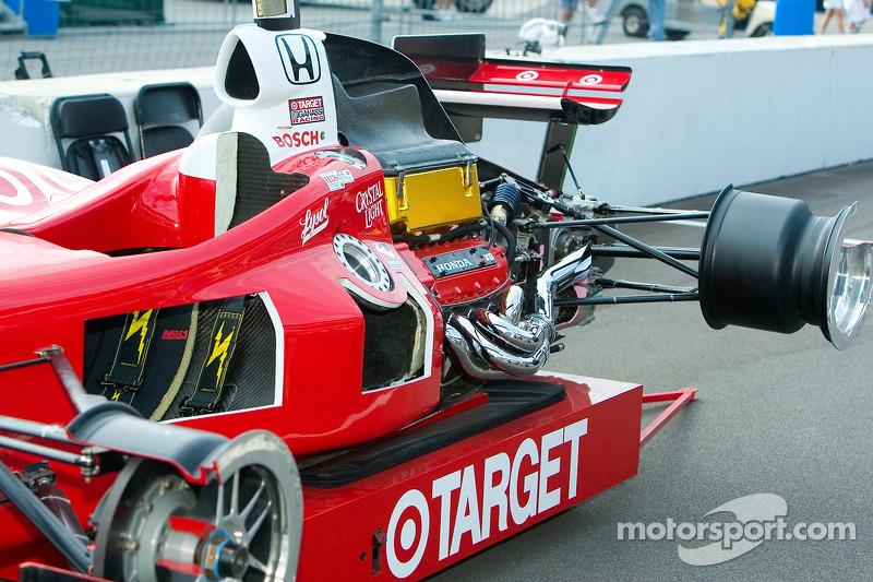 Une voiture IndyCar écorchée