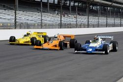 Vintage racers: What a front row: 1983 PC-11, 1974 McLaren, 1981 Penske PC-9