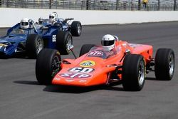 Vintage racers: Lotus Turbine and Lola T-54; MG Liquid Suspension Special in background