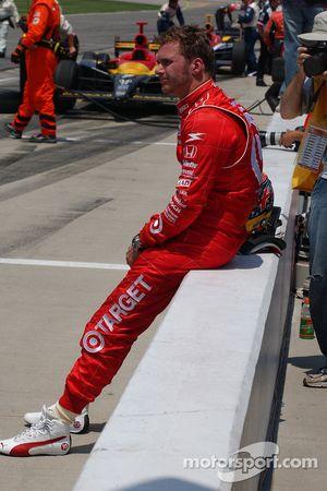 Dan Wheldon après avoir terminé deuxième