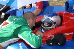 Tony Kanaan and Marco Andretti