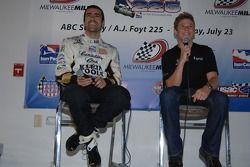 Press conference: Dario Franchitti and Marco Andretti